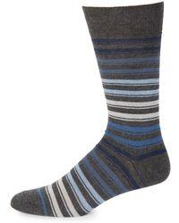 Saks Fifth Avenue - Stripe Cotton Mid-calf Socks - Lyst