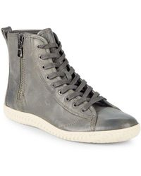 John Varvatos - Star Leather High Top Sneakers - Lyst