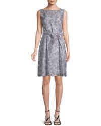 Anne Klein - Rosewater Shadow Stripe A-line Dress - Lyst