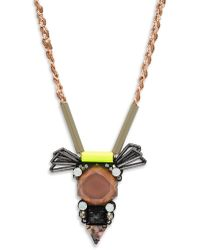 Nocturne - Andrea Crystal Chain Necklace - Lyst