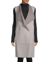 SOIA & KYO - Turndown Sleeveless Coat - Lyst