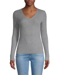 Pure Navy - Cashmere V-neck Pullover - Lyst
