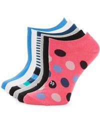 Hue - Six-pack Printed Liner Socks - Lyst