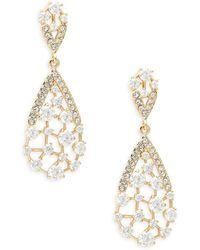 Adriana Orsini - Frozen 18k Goldplated Crystal Dangle Drop Earrings - Lyst