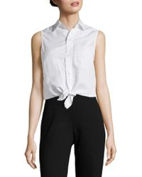 Mother - Knot Sleeveless Top - Lyst