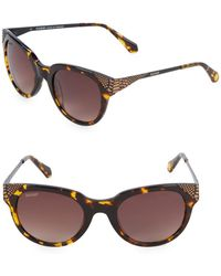 8f242075b5 Lyst - Balmain Brown Bl2069 Cat Eye Sunglasses in Brown
