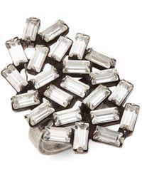 DANNIJO - Swarovski Crystal Opal Cocktail Ring - Lyst