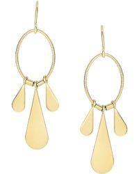 Saks Fifth Avenue - 14k Yellow Gold Teardrop Chandelier Earrings - Lyst
