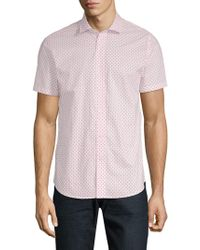 Slate & Stone - Printed Short-sleeve Cotton Button-down Shirt - Lyst