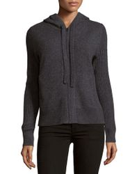 Saks Fifth Avenue - Cashmere Zipped Hoodie - Lyst