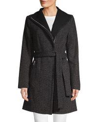 Tahari - Textured Self-tie Jacket - Lyst