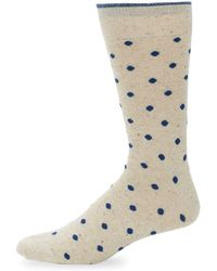 Saks Fifth Avenue - Polka Dot Socks - Lyst