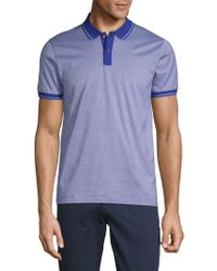 BOSS - Phillipson Pinstripe Short-sleeve Cotton Polo - Lyst