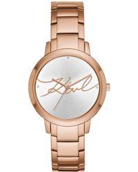 Karl Lagerfeld - Camille Stainless Steel Bracelet Watch - Lyst
