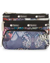 abfec4fcdf Lyst - LeSportsac 3-zip Cosmetic Bag in Black