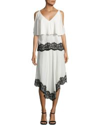 Derek Lam - Silk Lace Handkerchief Skirt - Lyst