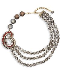 Heidi Daus - Paisley Draped Collar Necklace - Lyst