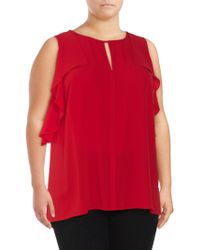 Vince Camuto - Plus Front-keyhole Sleeveless Top - Lyst