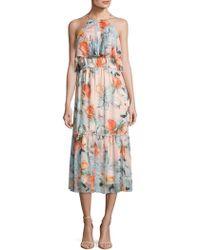 Donna Morgan - Floral Halter Dress - Lyst