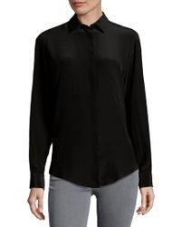MSGM - Silk Button Down Shirt - Lyst