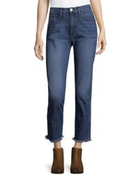 3x1 - Straight Crop Jeans - Lyst