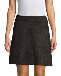 Pure Navy - Faux Suede Mini Skirt - Lyst