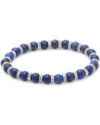 Perepaix - Lapis Beaded Silver Bracelet - Lyst