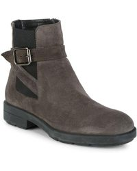 Aquatalia - Lucy Pebbled Round Toe Boots - Lyst