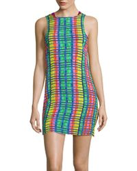 Mara Hoffman - Sleeveless Printed Bodycon Dress - Lyst