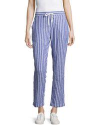 Beach Lunch Lounge - Striped Linen-blend Pants - Lyst