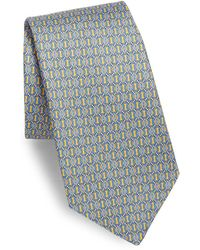 Saks Fifth Avenue - Print Circle Line Silk Tie - Lyst
