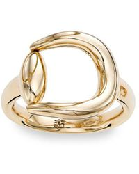 Saks Fifth Avenue - 14k Gold Horse Shoe Ring - Lyst