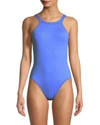 La Blanca - High Cut Hip One-piece Swimsuit - Lyst