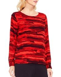 Vince Camuto - Printed Top - Lyst