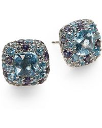 John Hardy - Batu Aquamarine & Sterling Silver Stud Earrings - Lyst