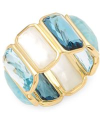 Ippolita - Rock Candy Multi-stone And 18k Gold Band Ring - Lyst