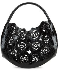 Nancy Gonzalez - Crocodile Rose Cut-out Bag - Lyst