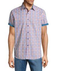 Robert Graham - Geometric-print Cotton Button-down Shirt - Lyst