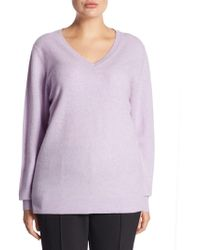 Saks Fifth Avenue - Collection V-neck Cashmere Knitted Sweater - Lyst