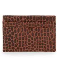 Abas - Embossed Leather Money Clip Card Case - Lyst
