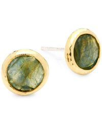 Gurhan - Turquoise & Sterling Silver Round Stud Earrings - Lyst