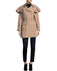 Rebecca Taylor - Faille Belted Trench Coat - Lyst