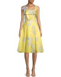 Belle By Badgley Mischka - Brianna Floral A-line Dress - Lyst