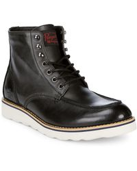 Original Penguin - Nigel Leather Ankle Boots - Lyst