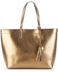 Cole Haan - Payson Metallic Leather Tote - Lyst