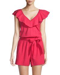 Saks Fifth Avenue - Cotton Ruffle Cap Sleeves Romper - Lyst