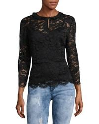 Marc By Marc Jacobs - Embroidered Floral Lace Blouse - Lyst