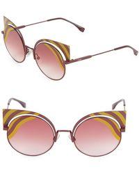 cea572e20a3c Lyst - Fendi 2jours Metal Cat s-eye Sunglasses in Black