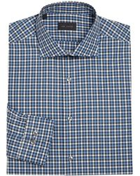 Pal Zileri - Regular-fit Tattersol Dress Shirt - Lyst