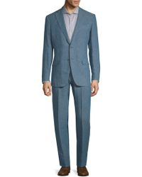 Eidos - Pinstriped Wool Suit - Lyst